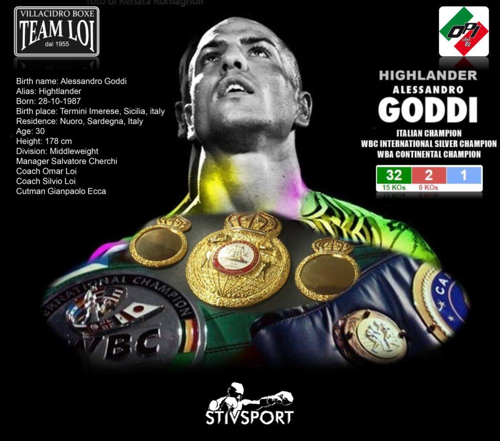 Alessandro Goddi - Highlander - Boxe Villacidro Sardegna Cagliari - Leone e Stivsport.