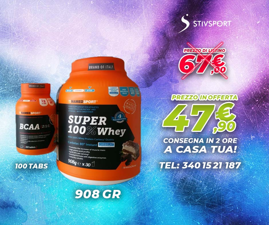 named super 100 whey offerta